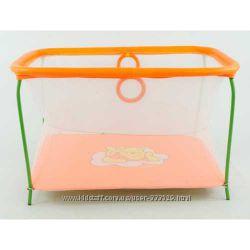 Манеж с мелкой сеткой Винни Пух оранжевый