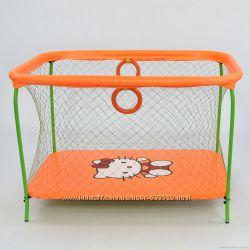 Манеж  с крупной сеткой Hello Kitty оранжевый