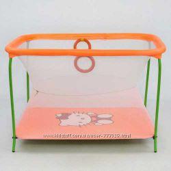 Манеж с мелкой сеткой Hello Kitty оранжевый