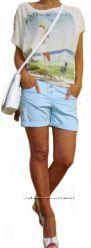 Женские  коттоновые шорты бойфренды, Италия, Скидка