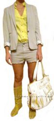 Женские шорты из цветного денима синий, беж и мята, Vicolo, Италия, Скидка