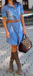 Джинсовое платье-рубашка, Roberta Biagi, Италия, скидка