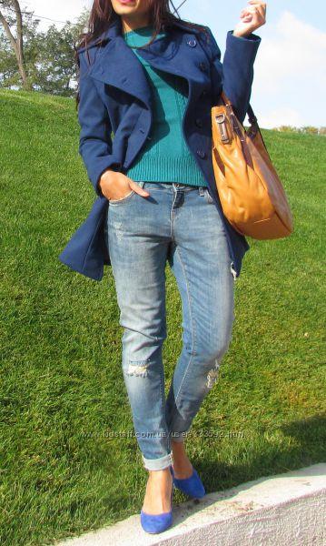 Женское теплое приталенное полупальто FionaC, Италия, скидка