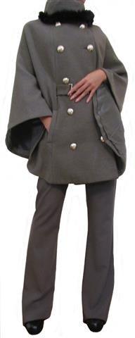 Женское пальто-кейп цвета капучино, Les Femes, Италия, Скидка