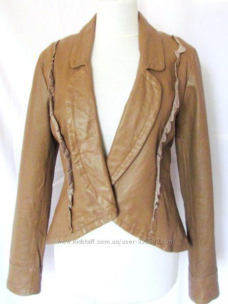 Кожаная куртка Please, Италия, последний размер Суперскидка