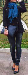 Джинсы скинни темно-синего цвета, Италия