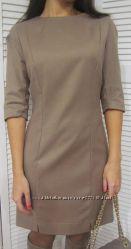 Классическое платье-футляр приталенного кроя с рукавом 3-4, Италия, скидка