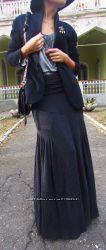 Шикарная юбка-макси из плотного джерси, Made in Italy. Скидка