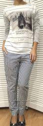 Женская трикотажка-футболка с длинным рукавом, Италия, Wiya, скидка