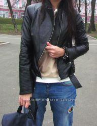 Идеальная куртка-косуха из мягчайшей кожи наппа, Италия