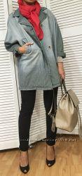 Женский джинсовый жакет оверсайз, Италия, скидка