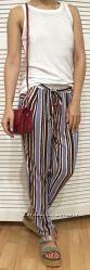 Женские летние брюки в пижамном стиле, Италия, скидка