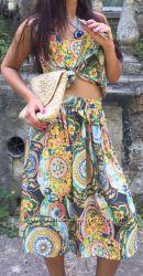 Яркий костюм в стиле Дольче Габбана, Италия, скидка скидка