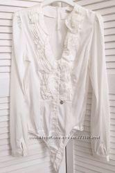 Женская блуза-боди  c v-образным вырезом и длинным рукавом, Италия, скидка