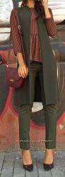 Удлиненный жилет минималистичного кроя, Италия, Скидка