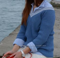 Женский пуловер в стиле спорт-шик, Италия, скидка