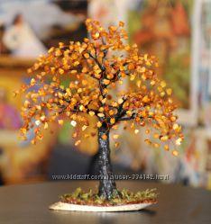 Янтарное дерево счастья из натурального янтаря