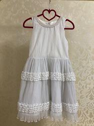 Платье белое, плиссе Итальянская фирма Miss Grant