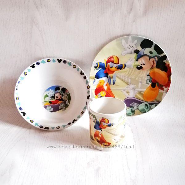 Наборы посуды Disney 3 предмета в коробке. Отличный подарок