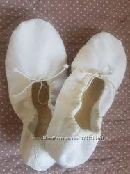 Чешки для танцев белые 18, 5 см.