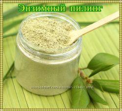 Энзимный пилинг на основе ферментов, пудры зеленого чая и жемчуга 25г.