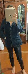 Джинсовая куртка пиджак XL