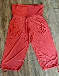 Коралловые бриджи штанишки для беременной