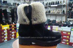 Топ продаж - теплые зимние ботинки - полусапожки по суперцене