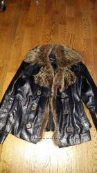 куртка кожаная енот