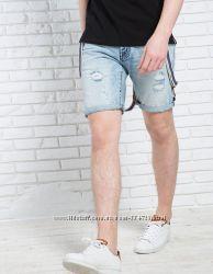 Мужские джинсовые бриджи Bershka 38р.
