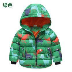 Курточка зимняя в динозаври