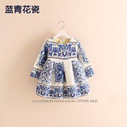 Красивие платья на утеплителе 100см110см120см130см140см