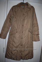 Красивое длинное пальто пуховик Манго, водоотталк, осень-зима