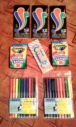 Краски карандаши фломастеры Centropen мелки восковые Crayola