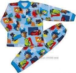 Тёплая пижама для мальчика Тачки, рост 98-104, 3-4 года. В наличии