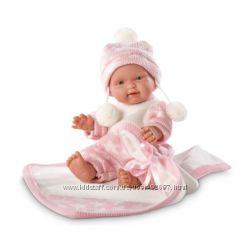 Испанский пупс Llorens 26270 Роза с розовым одеялом 26 см