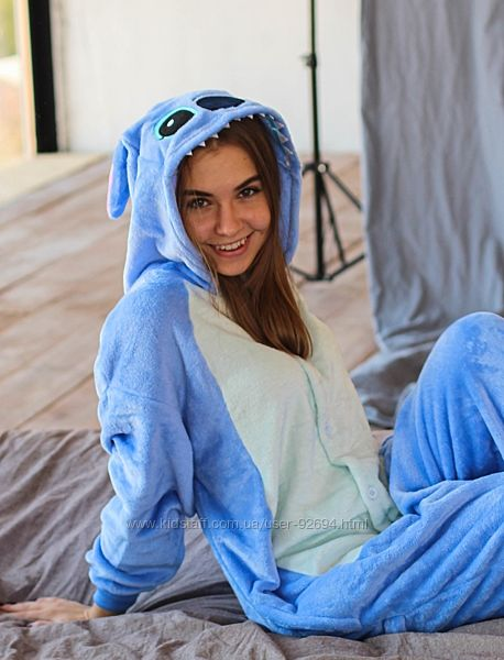 Кигуруми Стич, детская пижама на рост 140-184см