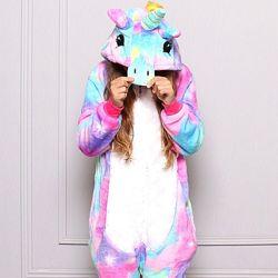 Пижама детская Единорог блестящий, кигуруми