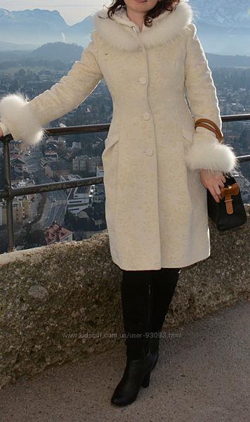 Пальто зимнее Frizman утепленное с мехом р. S укр. 44
