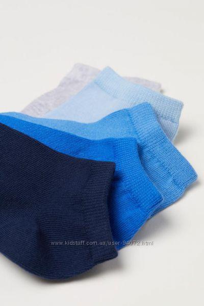 H&M Комплект из 5 или 10 пар коротких носков размеры 34-42 в наличии
