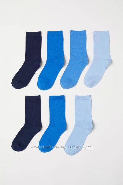 H&M Комплект из 7 пар носков размеры 34-39 в наличии