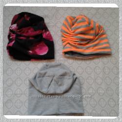 Наборы и шапочки, шапки бини, шапки 2в1 , выбор ткани