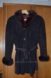 замшевая курточка с норкой.  Размер М