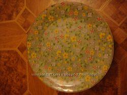 Тарелки с цветами новые набор 8шт