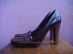 Туфли коричневые  нат. кожа  Италия, 39 25, 5см