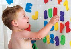 Мягкие буквы и цифры для игр в ванной, 36 шт