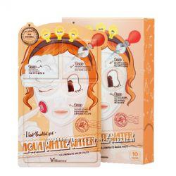 Трехступенчатая увлажняющая маска для лица Elizavecca Aqua White Water Illu