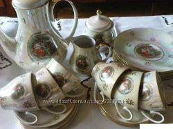 Фарфоровый чайный cервиз KAHLA мадонна 60 г. ХХ ст. Германия