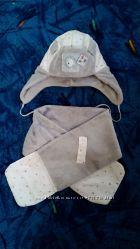 Зимняя шапка шарфик фирмы DEMBOHOUSE на хб подкладке