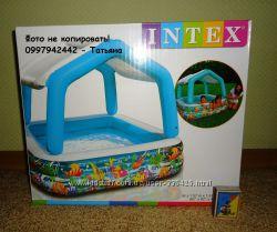 Детский надувной Бассейн со съемной крышей Intex